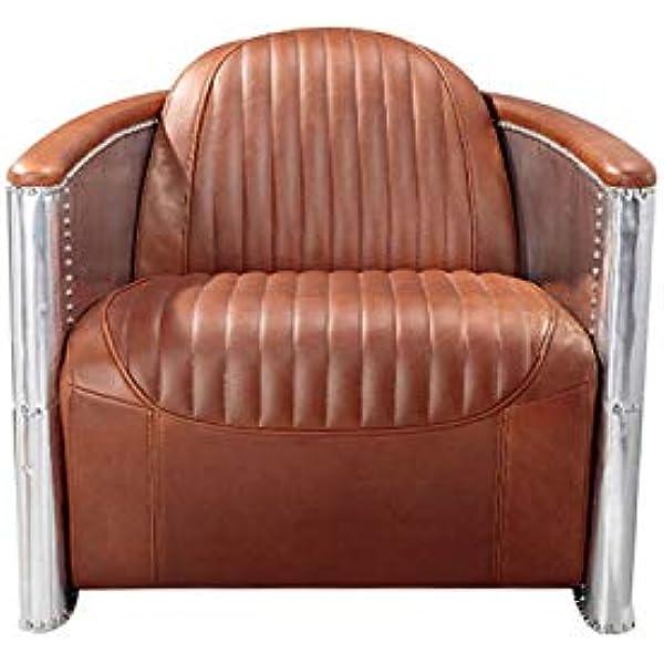 Ashoka Aviator Vintage Leather,Aluminum Chair: Amazon.co.uk