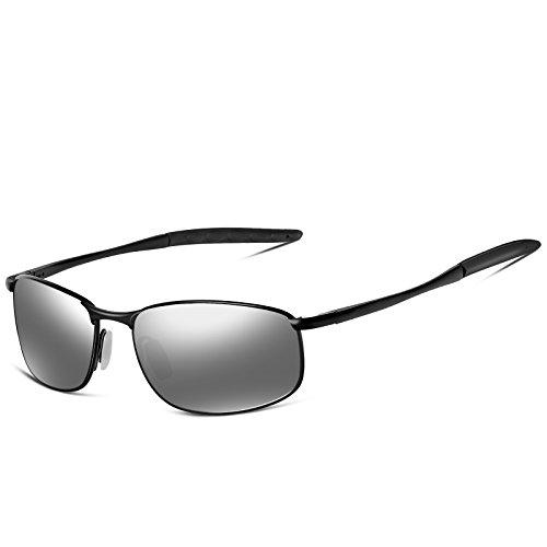 247a35682d29d6 SUNMEET Gafas de sol Hombre Deportivas Polarizadas Golf Gafas de sol Hombre  Polarizadas Marco Metálico S1002