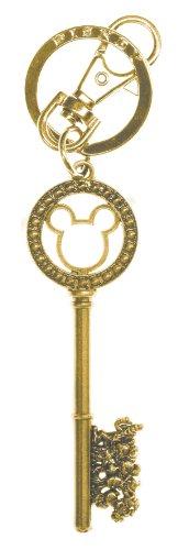 Disney Doré Master Key avec Gem Perles en étain Porte-clés
