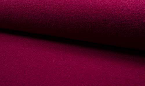 Fabrics-City 5052 - Tela 100% Lana Virgen (620 g), Color Rojo