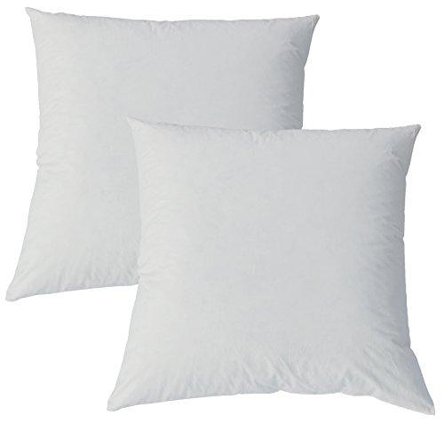 Kuscheliges Daunenkissen ca. 40 x 40 cm Bezug Reine Baumwolle Creme (2er Set) - Bett-kopf-creme