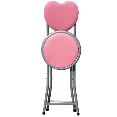 Love Heart Shape Folding Chair - 3 Colors (Light Pink) - cheap UK light shop.