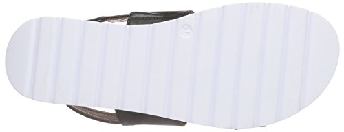 PIAZZA - 910646, Scarpe col tacco con cinturino a T Donna Nero (Nero (nero))