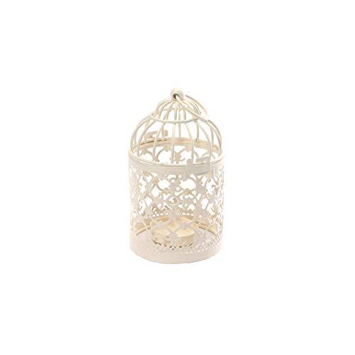 Rrunzfon Metall-Kerzenhalter-Mittel Dekorative aushöhlen Birdcage-Kerze Rack-Weinlese-Eisen-LED Hängende Kerzenlaterne