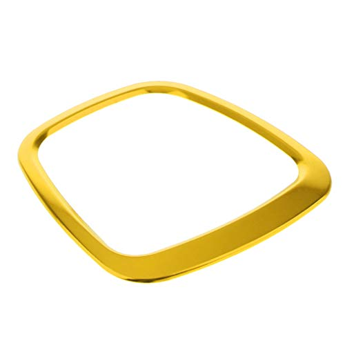Goldene Farbe Dekorative Trimmen (H HILABEE Lenkrad Trimmen Dekorativ Rahmen Abdeckung Aufkleber für Audi A4L A6L Q3 Q5 - Golden)