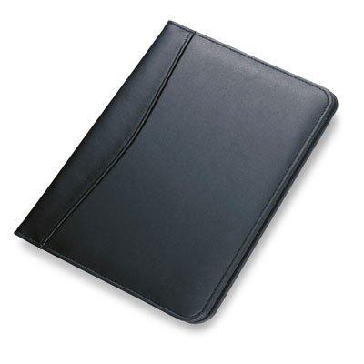 Konferenzmappe A5 Portfolio mit Mehrzweckfächern und Notizblock - Kunstleder schwarz