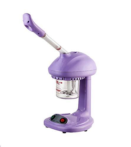 Facial Steamer, Rotation à 360 °, Brume chaude, Humidificateur à l'ozone, pour la maison et les salons de beauté, Extraire les points noirs, rajeunir et hydrater la peau de votre visage, Violet