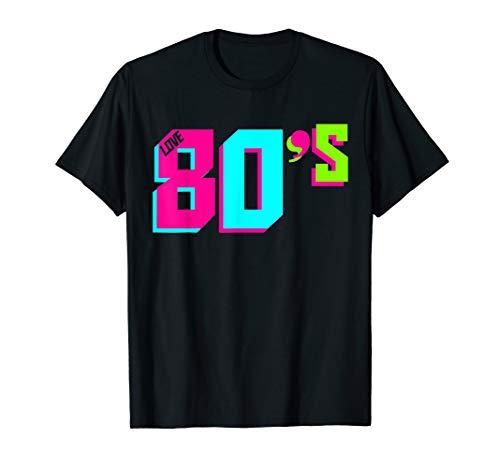 Ich Jahre Kostüm Liebe 80er -  Ich liebe das 80s 80er Jahre Motto Party 80s Kostüm T-Shirt