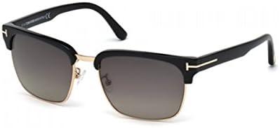 Río de Tom Ford gafas de sol en negro brillante Club Master polarizadas Ft0367 01d 57