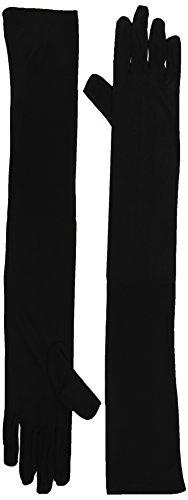 Widmann Handschuhe Lang, 1Paar, schwarz (Weiße Zigarette Mädchen Kostüm)