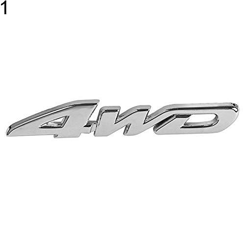 YSHtanj calcomanía de decoración externa para auto, 4WD V6 V8, elegante insignia...