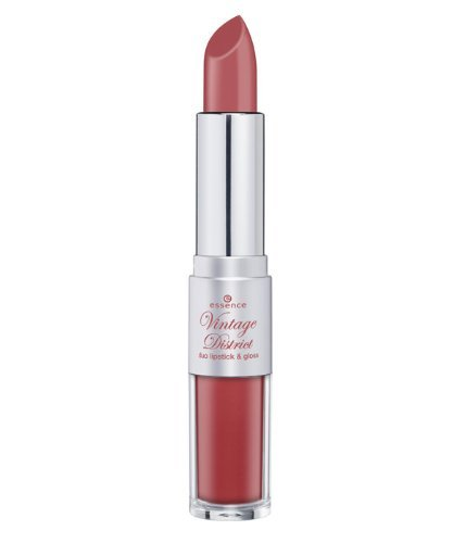 Essence Vintage District Duo Lipstick & Gloss Nr. 02 Antique Pink Lipstick 4g und Lipgloss 3ml...