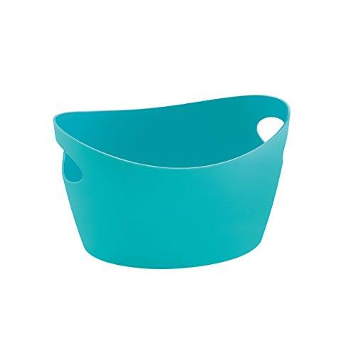 Koziol 5733619 Cache-Pot, Plastique, Turquoise, 28 x 28 x 18 cm