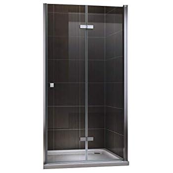 Cadentro porte de douche pliante en verre de s curit Porte de douche pliante 100