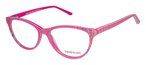 David Blake Rimmed Cateye Women's Spectacle Frame - LCEWDB1150SR6162-C02 | 53 mm