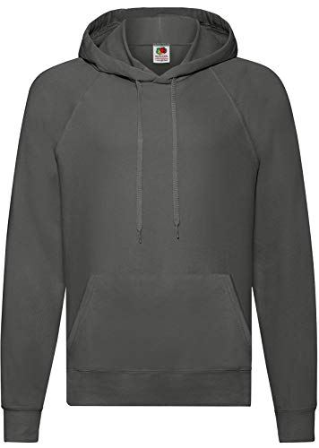 Fruit of the Loom: Lightweight Hooded Sweat 62-140-0, Größe:XL;Farbe:Light Graphite (Lightweight Pullover Hooded)