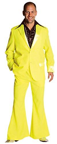 M207201-29-M neon-gelb Herren Disco Anzug-Kostüm Gr.M=52 (Herren Disco Anzug)