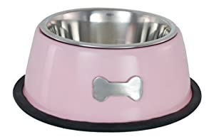 Buckingham Single Dog Bowl Pink (0.45 Ltr)