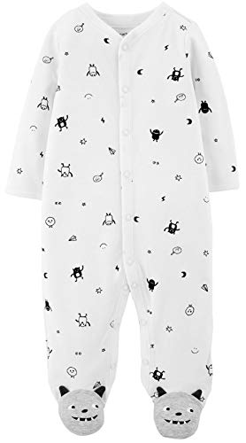 Footie Sleeper (Carter's Baby Boys' 1 Piece Cotton Footed Sleepers)