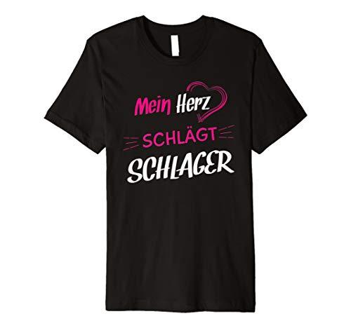 Mein Herz schlägt Schlager Damen Fan Shirt Musik Fans