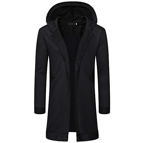 Day.LIN Männer Cardigan Open Jacke Längen Hoodie Pullover Mantel Sweatshirt Herren Oversize Mantel Casual Sweatjacke Strickjacke Kapuzenpullover Hemd,Angebote!