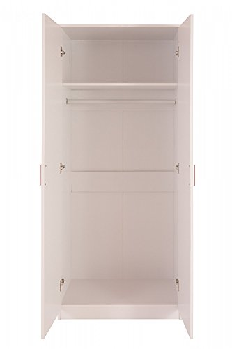 ASPIRE HOME OTTAWA 2-Door Wardrobe, Pink Gloss/White