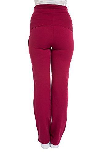 Pantalon de grossesse pantalon de jogging–Pantalon de sport–Grossesse | fait Mode Rouge - Rouge bordeaux