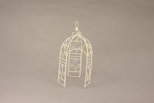 Preisvergleich Produktbild Miniatur Modell Minigarten, Pavillon, weiß Höhe ca. 20cm