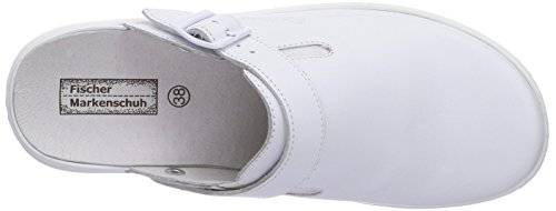 Fischer Damen Pantolette, Mules femme Blanc - Weiß (111 weiß)