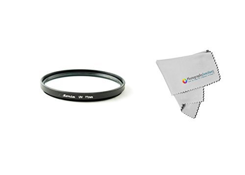 Sonia 77mm Ultra Violet UV Filter + Free Photography Junction Micro Fiber Cloth for Canon EF-S 15-85mm f/3.5-5.6 IS USM, Canon EF-S 18-200mm f/3.5-5.6 IS, Canon EF 50mm f/1.2L USM, Canon EF 85mm f/1.2L II USM, Canon EF 28-200mm f/3.5-5.6 USM, Canon EF 35mm f/1.4L USM, Canon EF 28-135mm f/3.5-5.6 IS USM, Canon EF 135mm f/2L USM, Canon EF 180mm f/3.5L Macro USM, Canon EF 200mm f/2.8L II USM, Canon EF 20mm f/2.8 USM, Canon TS-E 24mm f/3.5L, Canon TS-E 45mm f/2.8, Canon EF 50mm f/1.0L USM, Canon EF  available at amazon for Rs.1699