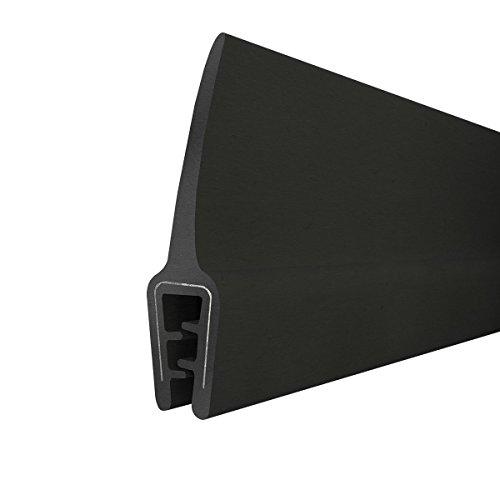 STEIGNER Junta de borde de goma T-45 Negro 10x33 mm 3 m Inserto Metálico Perfil de caucho Protección de borde Refuerzo de Borde