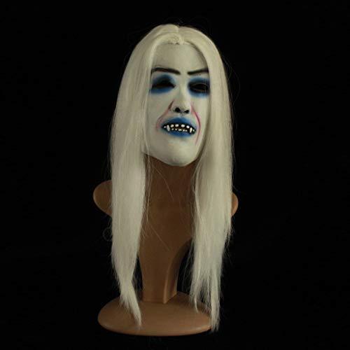 JSSFQK 2019 Maschera d'oro Halloween Copricapo Maschera Horror Costume Maschera di Plastica for Regalo di Halloween (Color : A)