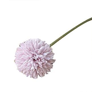 babysbreath17 Artificial Crisantemo de Tela Real Touch Falso Flores Inicio Decorativa de la Boda Flores de simulación Blanco 25cm
