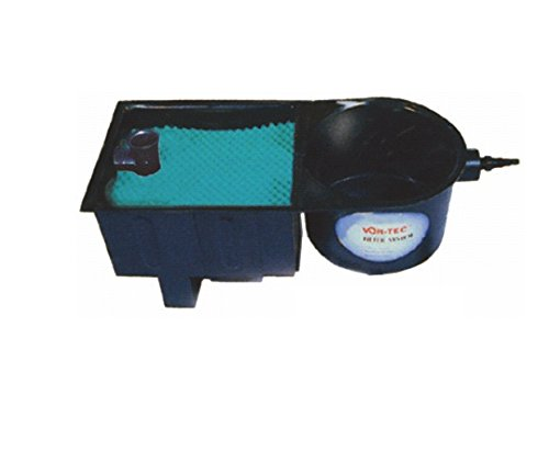 AquaForte Vortex 12000 Mehrkammerfilter, schwarz, max. Teichgröße 12m³, max. Durchfluss 3,8m³/h