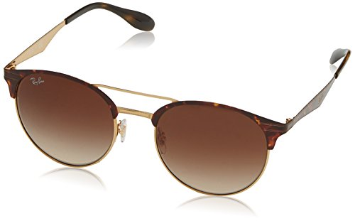 Ray-Ban Unisex-Erwachsene Sonnenbrille Rb 3545 Gold/Top Havana/Browngradient, 54