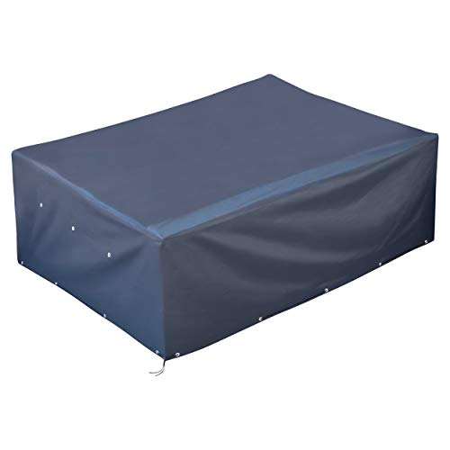 GardenMate® Funda Protectora de poliéster Oxford para Muebles de jardín 250x200x80 cm - Tejido Oxford 220 gsm Antracita