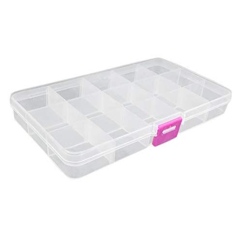 Schimer Angelköder Box, Lure Box wasserdicht, Köderbox Tacklebox für Gummiköder & Kunstköder für Blinker & Wobbler, individuell verstellbare Innenfächer, praktisches Lineal an der Außenseite der Box