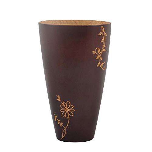 COPP Hölzerne Tasse Tee Becher Log Farbe Primitive handgemachte natürliche Holz Kaffee Tee Bier Saft Milch Becher Home Office Schule Geschenk, 165ml