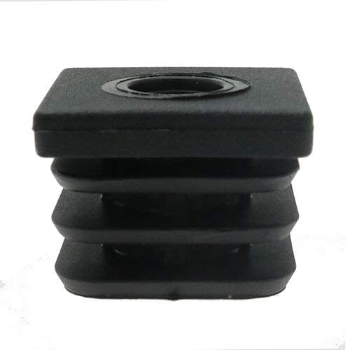 Gewindeschneideinsätze, Kunststoff, quadratisch, 15 x 15 mm, 50 x 50 mm, Rohreinsatz, Kunststoffbeschläge, Stuhlfüße, Möbelfüße, Gewindeeinsätze, Rohrfüße