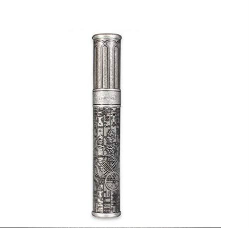 Xzcvbnmc Tubo di sigaro in ottone inciso sigaro tubo idratante portatile singolo sigaro