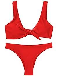 58351ef54a2c Amazon.it: costumi mare da donna - Rosso / Bikini e Slip / Mutande ...