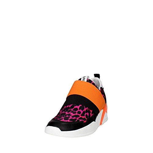 Serafini PE16DOV06 Sneakers Donna NERO/FUXIA
