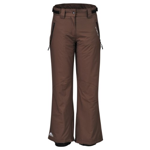 COX SWAIN Damen 2-Lagen Ski Snowboard Funktionshose Base LDT, Colour: Brown, Size: XL (Skihose Base)