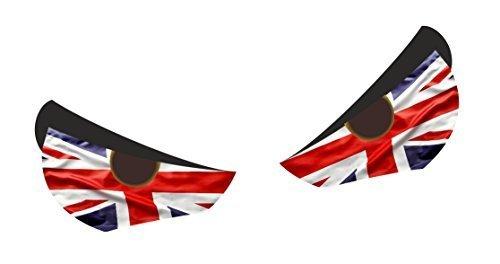 STD COPPIA MALE Occhi con Union Jack bandiera inglese Motivo per Casco da moto ecc. vinilico stile RAT ADESIVO AUTO STICKER BOMB 55x40mm cadauno ca