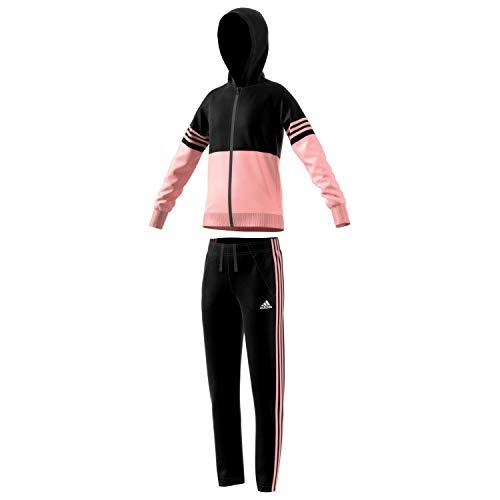 adidas Performance Mädchen Trainingsanzug Hooded schwarz (200) 116