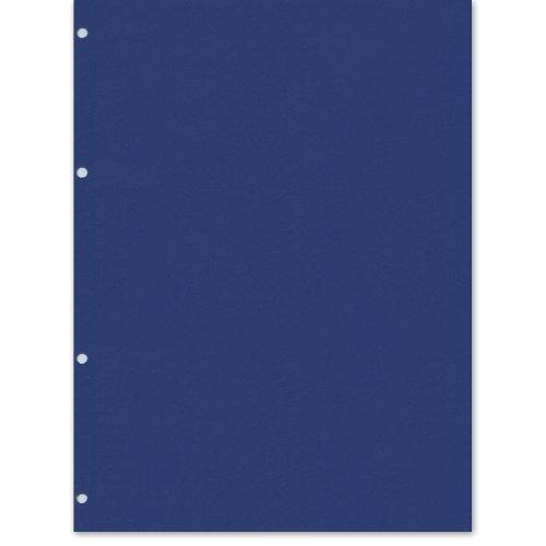 Semikolon (353084) Fotokarton 4 fach gelocht marine (blau) - Geeignet für Foto-Ordner 4 Ring - 20 Blatt im Format 23 x 29,5 cm