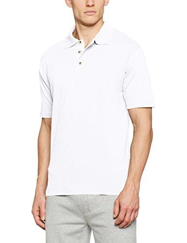 James & Nicholson Herren Poloshirt Polo-Piqué Medium Weiß (White)