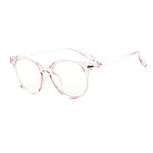 qiansu Männer Frauen Runde Brillen - Anti Blau Licht Clear Lens Gläser Rahmen für Computer/PC Spiel/TV/Handy Lesen Brillen - Q19032101