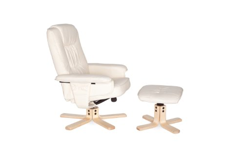 Amstyle Comfort Relaxsessel mit Hocker - 23