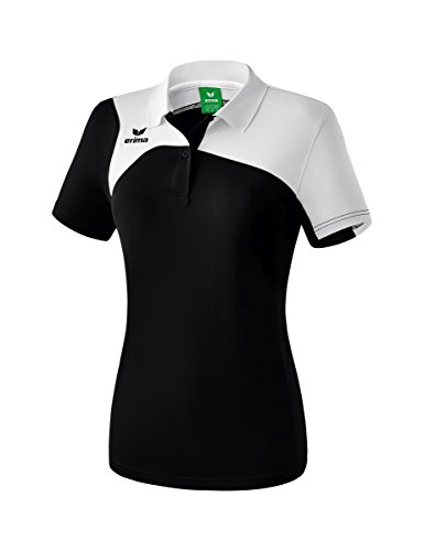 Erima Damen Club 1900 2.0 Polo, schwarz/Weiß, 44